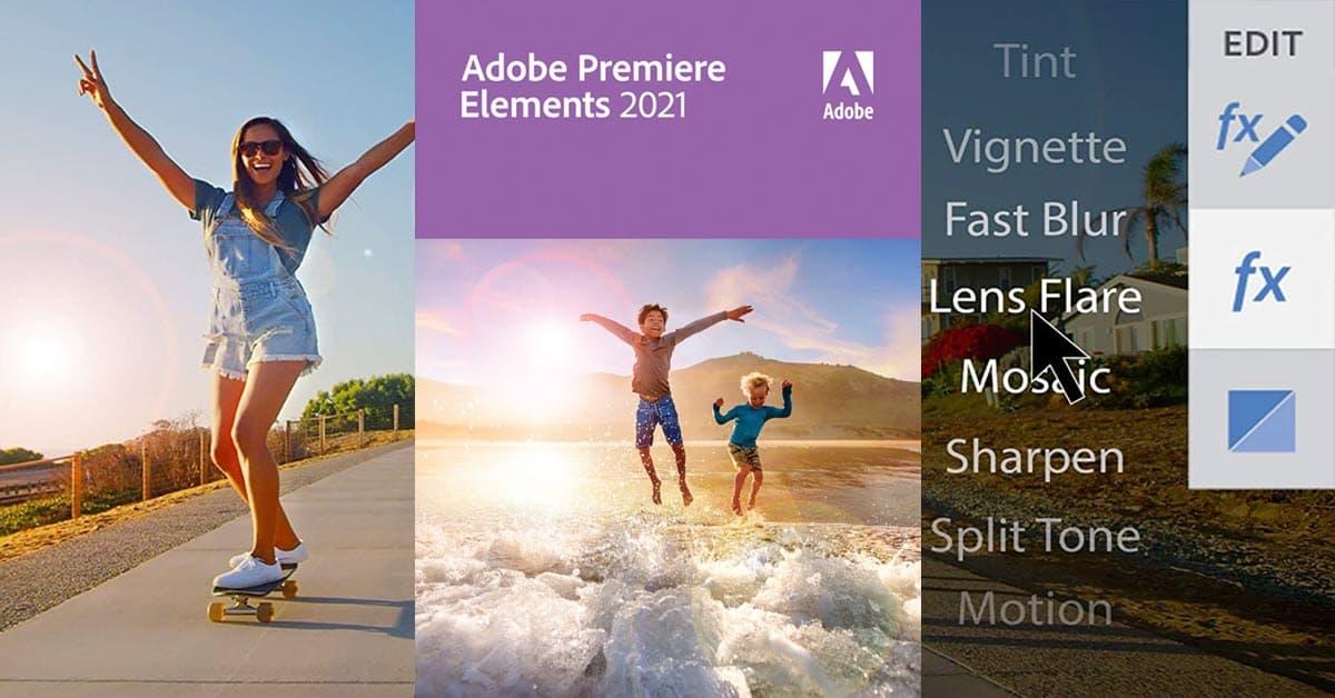 Adobe Premiere Elements 2021 box shot.