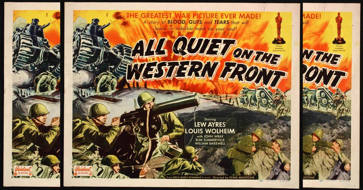 All Quiet on the Western Frony vintage movie poster.