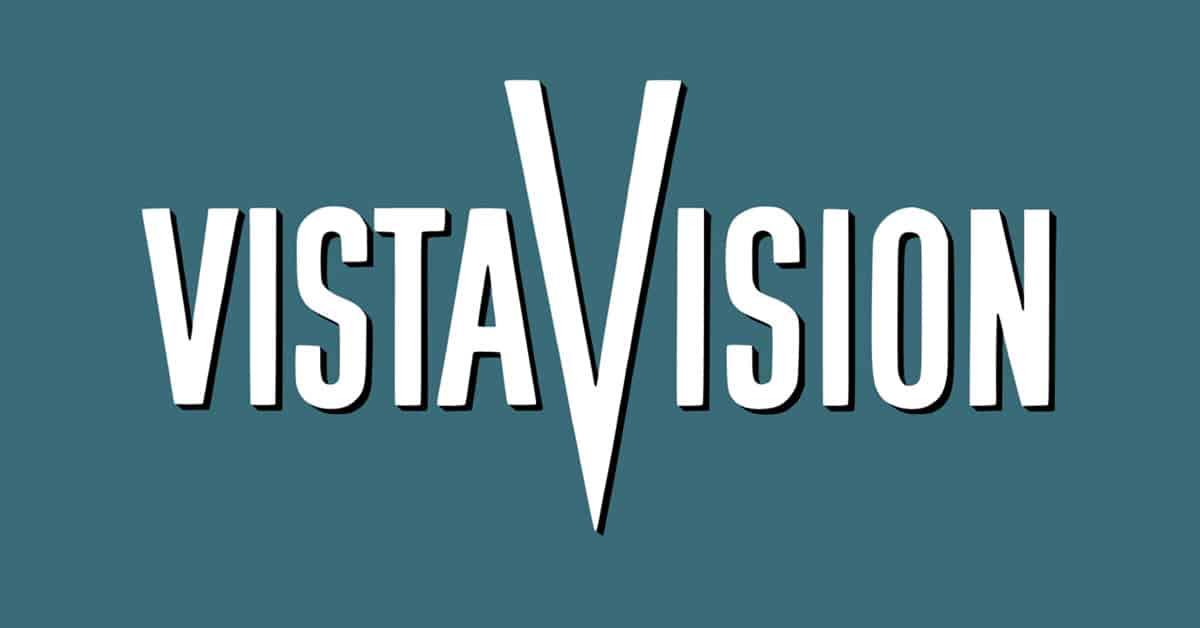 Old Vistavision logo showing aspect ratios.