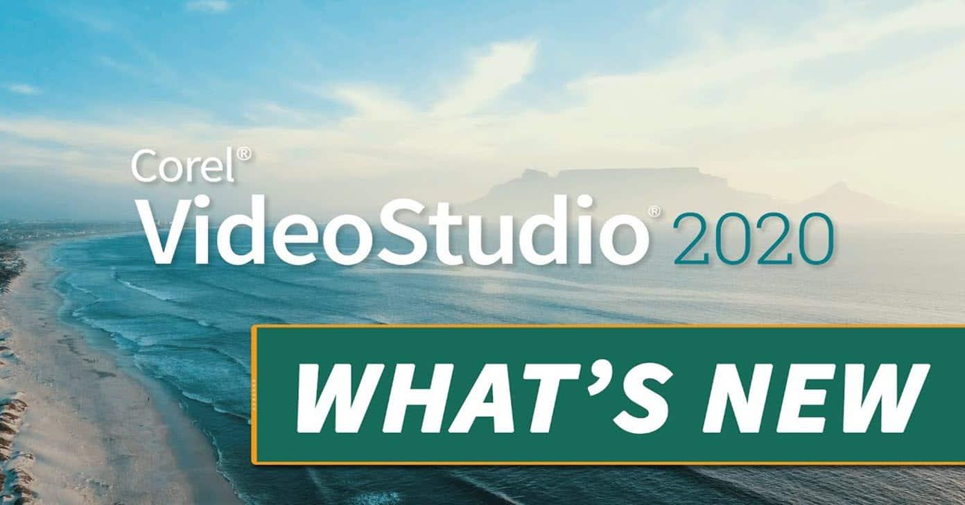 Corel VideoStudio 2020 update announcement banner image.