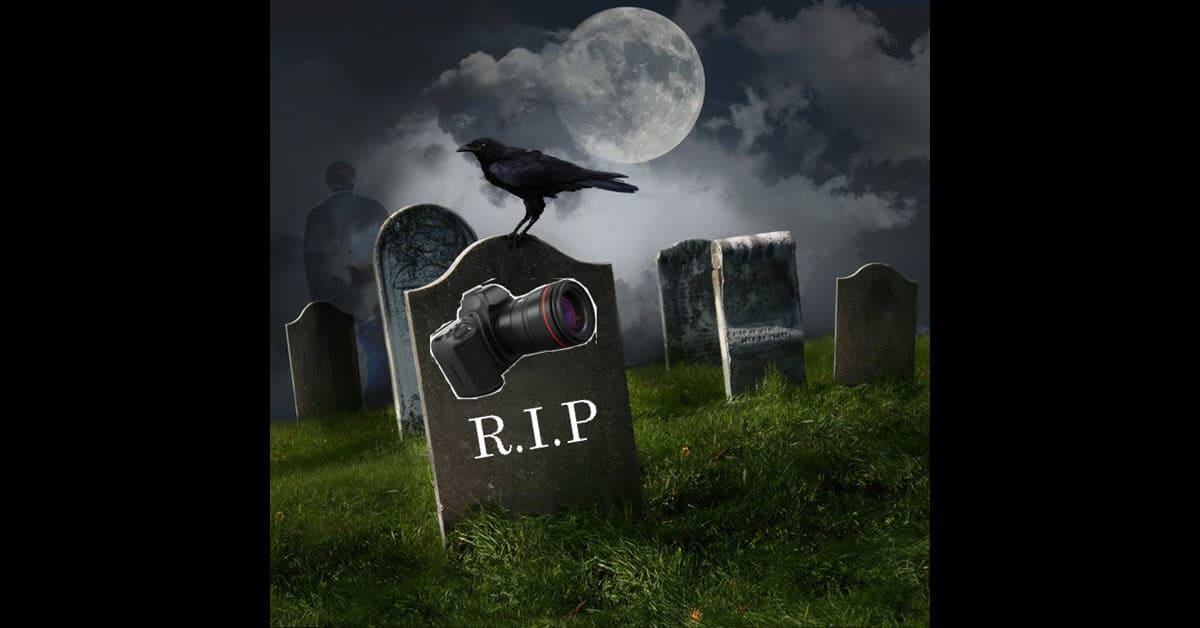 Graveyard image depicting the death of DSLR cameras