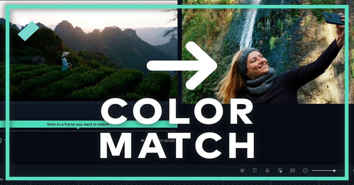 Filmora X Color Match module splash screen.