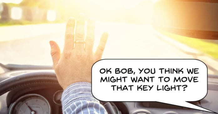 Image showing the result of poor key light placement.
