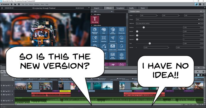 User interface of Magix Movie Edit Pro.