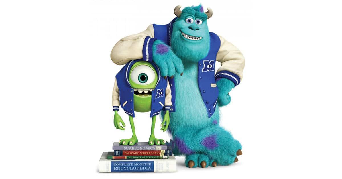 Pixar's Monsters University characters