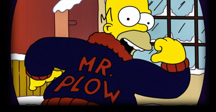Image of Homer Simpson as Mr. Plow.
