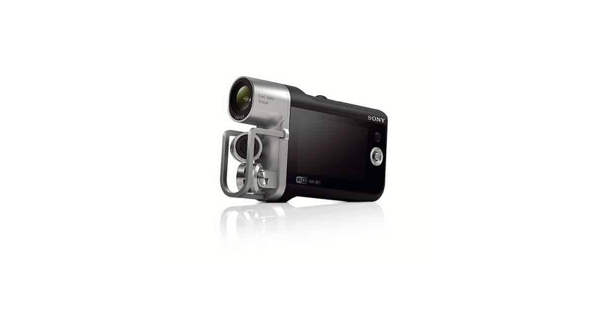 Image of the new Sony-HDR-MV1 Music Camcorder