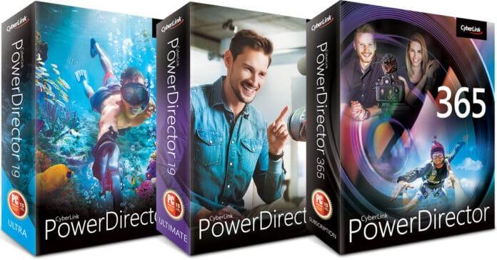 PowerDirector 19 product range box shots.