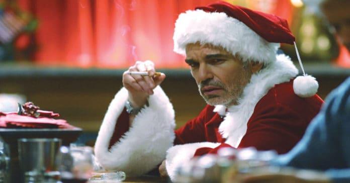 Still shot from Bad Santa the movie.