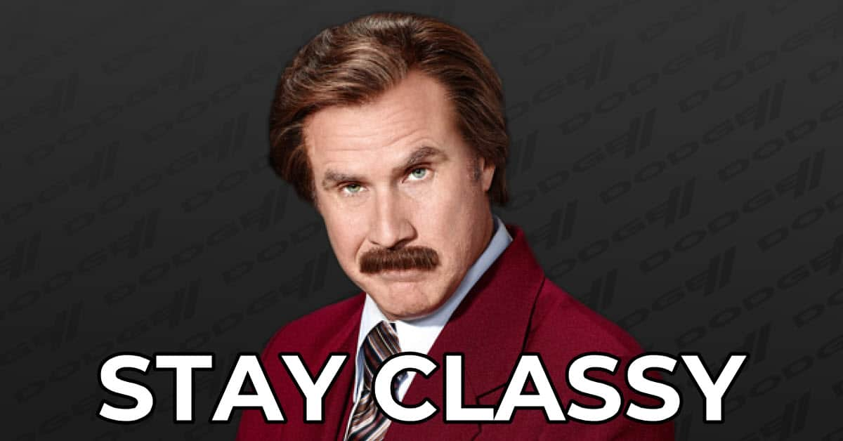 Ron Burgundy classy meme.