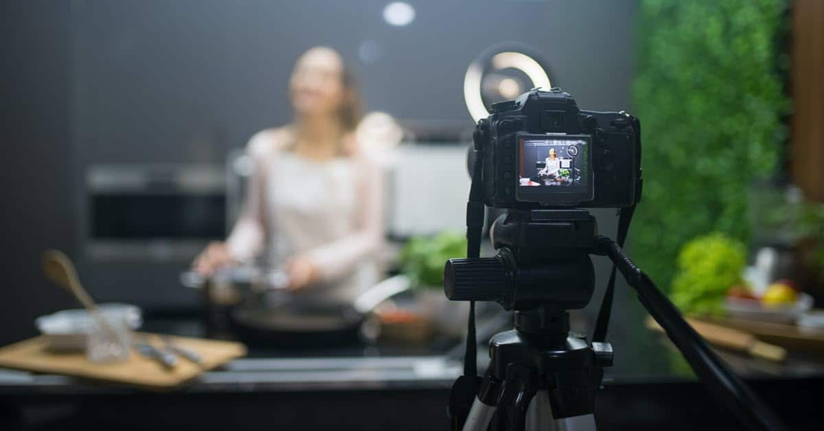 Shooting a cooking video