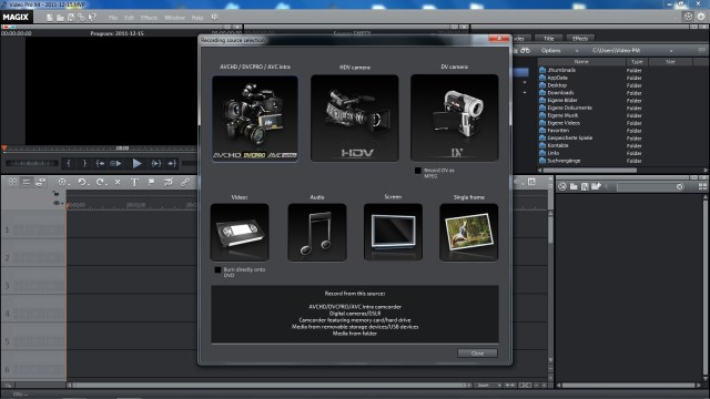 Magix Video Pro X File Import Module