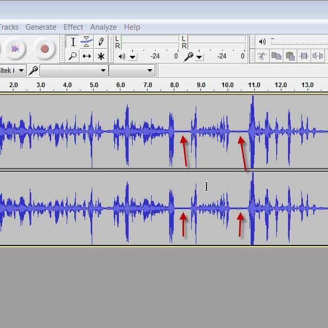 how to go back in audacity