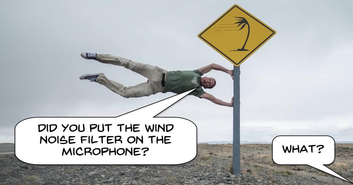 Camera wind noise filter
