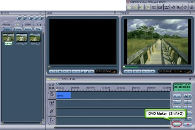 Womble MPEG Video Wizard Interface