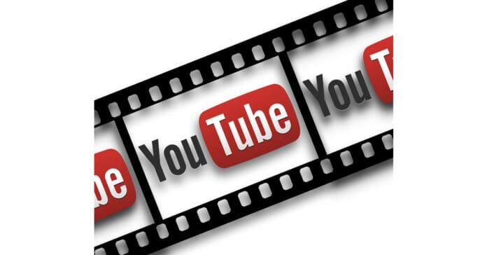 Image of film strip and YouTube logo.